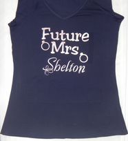 Women's Future Mrs Surname Personalised T-Shirt
